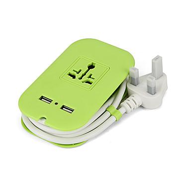 USB-laturi 2 Portit Työpöydän latausasema USB-portilla UK Latausadapteri