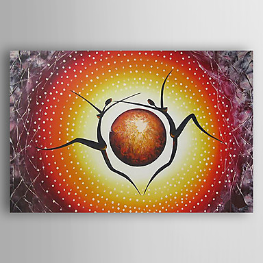 Pintados à mão Abstrato Horizontal, Moderna Estilo Artístico Tela de pintura Pintura a Óleo Decoração para casa 1 Painel