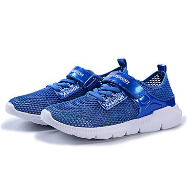 Chico / Chica Zapatos Tul Primavera Confort Zapatillas de deporte Cinta Adhesiva para Blanco / Azul Oscuro / Azul Real 1Dyzl