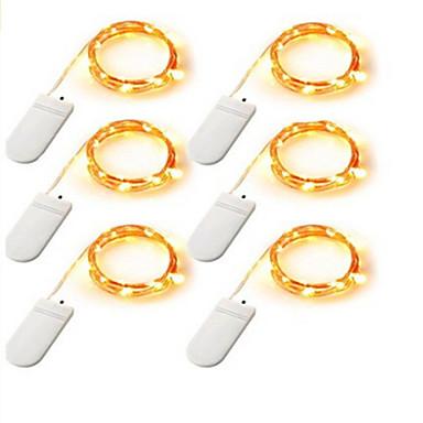 12m Leuchtgirlanden 120    20*6 LEDs Warmes Weiß / Weiß / Mehrfarbig Batterie
