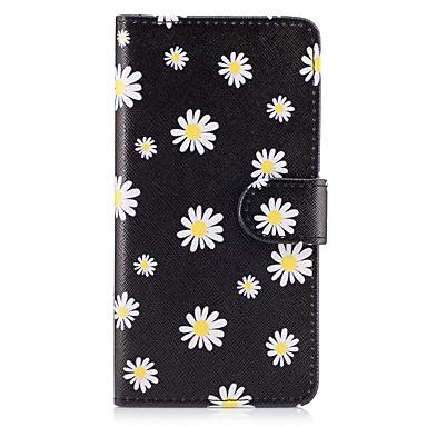 Capinha Para Samsung Galaxy Carteira / Porta-Cartão / Com Suporte Capa Proteção Completa Flor Rígida PU Leather para On7(2016) / On5(2016) / Grand Prime