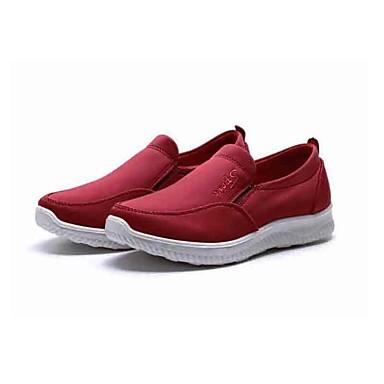 Mulheres Sapatos Tecido Primavera / Outono Conforto Mocassins e Slip-Ons Caminhada Plataforma Ponta Redonda para Diário Casual Preto