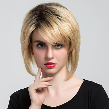 شعرة الإنسان كابليس الباروكات شعر مستعار طبيعي كلاسيكي / تمويج طبيعي مصنوع بالماكينة شعر مستعار يوميا
