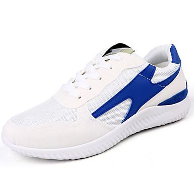 Homens sapatos Couro Ecológico Primavera Verão Conforto Tênis Caminhada para Casual Branco Preto Laranja Vermelho Azul