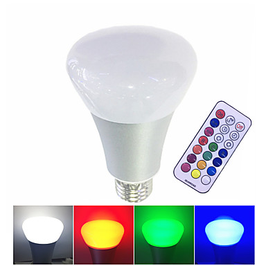 10W 600 lm E27 Lâmpada de LED Inteligente leds LED de Alta Potência Regulável Controle Remoto Branco Quente RGB Branco AC 85-265V