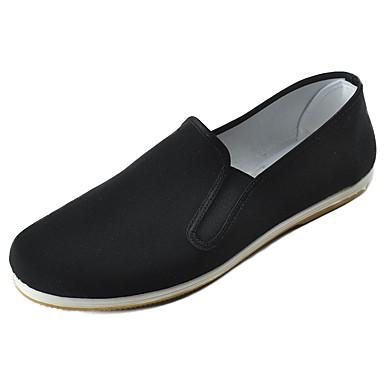 Homens sapatos Tecido Primavera Outono Conforto Mocassins e Slip-Ons Caminhada para Casual Escritório e Carreira Preto