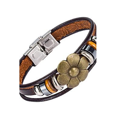 Pánské Kožené náramky Šperky příroda Módní Kožené Slitina Šperky Pro Zvláštní příležitosti Sport