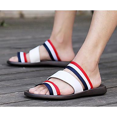 Miehet Kengät PU Kevät Sandaalit Käyttötarkoitus Valkoinen Sininen