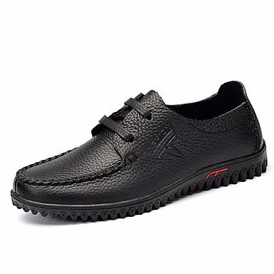 Herren Schuhe PU Frühling Komfort Outdoor Für Normal Schwarz Braun Rot