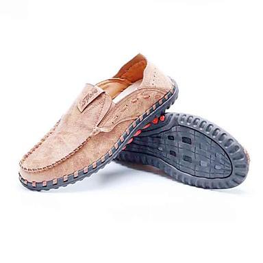 Homens sapatos Tecido Primavera Outono Conforto Mocassins e Slip-Ons Caminhada para Casual Escritório e Carreira Marron Camel