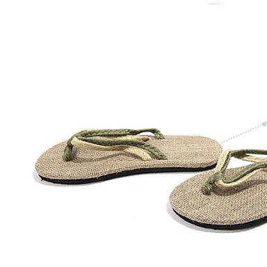 Miehet kengät PU Kesä Comfort Tossut & varvastossut Käyttötarkoitus Kausaliteetti Musta Punainen Vihreä