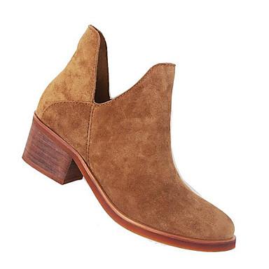 Naiset Bootsit Mokkanahka Kevät Musta Ruskea Tasapohja