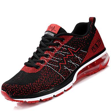 Damen Schuhe Tüll PU Frühling Herbst Leuchtende Sohlen paar Schuhe Sportschuhe Flacher Absatz Runde Zehe Schnürsenkel für Sportlich