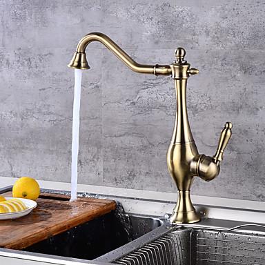 Kitchen Faucet - Nykyaikainen Pronssi Tall / Korkea Arc Integroitu