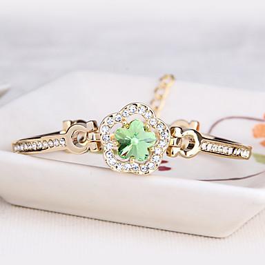 Dámské Kotníkové náramky Šperky Vintage příroda Módní Ručně Vyrobeno Křišťál Slitina Oval Shape Šperky Pro Svatební Párty Narozeniny