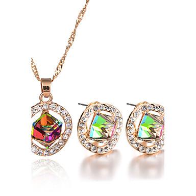 Mulheres Cristal Conjunto de jóias - Cristal, Strass Luxo, Original, Pingente Incluir Colar / Brincos, Sets nupcial Jóias Vermelho /