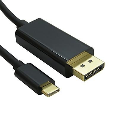 DisplayPort Kabel, DisplayPort to USB 3.1 Type C Kabel Samec-samec 4K*2K 1,8M (6 stop)