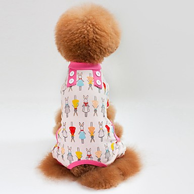 Gato Cachorro Camiseta Moletom Macacão Pijamas Calças Roupas para Cães Casual Coelho Verde Azul Rosa claro Ocasiões Especiais Para