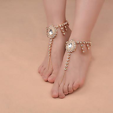 Perle Barfußsandalen - Künstliche Perle Tropfen Retro, Modisch, Yoga Gold / Silber Für Alltag / Normal / Damen