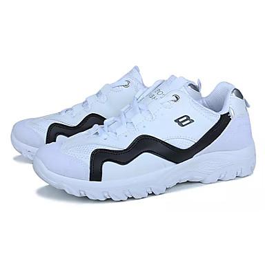 Miesten kengät Mokkanahka Kevät Syksy Comfort Urheilukengät Kävely Solmittavat varten Urheilullinen Valkoinen Musta