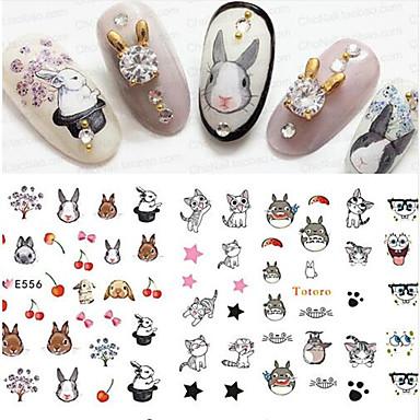 5 pcs Nail DIY Tools Nail Jewelry Full Nail Stickers nail art Manicure Pedicure 3D Fashion Daily