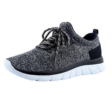 Herren Schuhe Tüll Sommer Herbst Komfort Sneakers für Normal Schwarz Grau Farbbildschirm