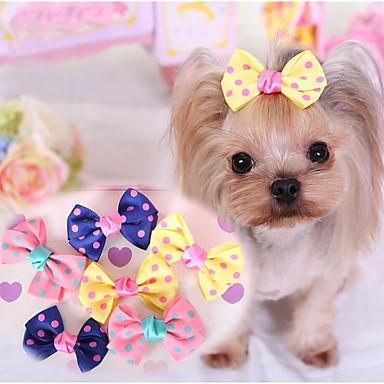 Pes Ozdoby Oblečení pro psy Roztomilý Běžné/Denní Mašle Tmavomodrá Žlutá Růžová Kostým Pro domácí mazlíčky