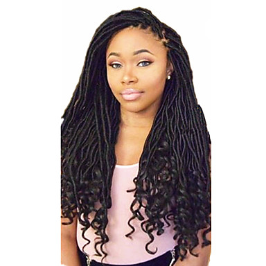 Braiding Hair Curly Dreadlocks / Faux Locs Synthetic Hair 1pc / pack, 24 roots / pack Hair Braids Ombre Medium Length Ombre Braiding Hair / Dreadlock Extensions / Dreads Locs