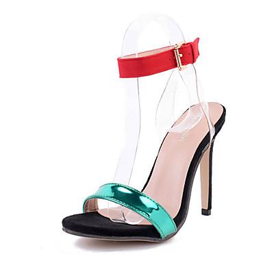 Naiset Kengät Kiiltonahka Kesä Sandaalit Piikkikorko Avokkaat Soljilla Käyttötarkoitus Vihreä