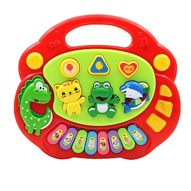 Acessório para Casa de Boneca Teclado Eletrônico Brinquedo Educativo Instrumento Musical de Brinquedo Animais Diversão Crianças