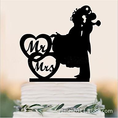 Figurky na svatební dort Evropský Akrylát Svatební Výročí Zásnuby s 1 OPP