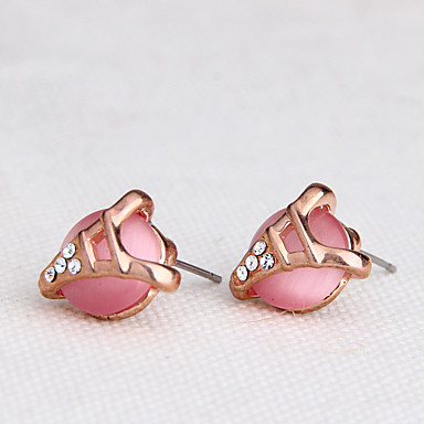 Damen Ohrring Synthetischer Opal Modisch individualisiert Euramerican Synthetische Edelsteine Aleación Schmuck Schmuck Für Hochzeit Party