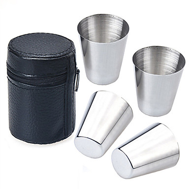 Drinkware Faux Leather Stainless Steel Daily Drinkware Novelty Drinkware Tea Cup Coffee Mug Travel Mugs Cup Cover Travel Storage Travel