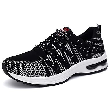 Homens sapatos Borracha Primavera/Outono Conforto Tênis Cadarço para Ao ar livre Branco/Preto Black / azul Verde/Preto