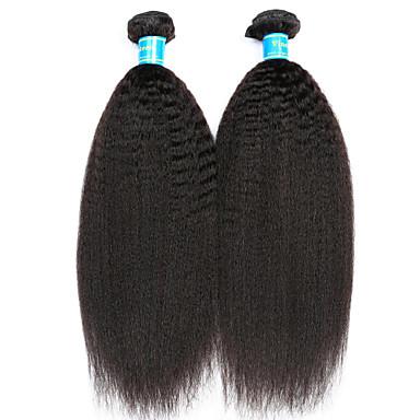 2 csomag Maláj haj Göndör egyenes 10A Szűz haj Az emberi haj sző 8-14 hüvelyk Emberi haj sző Hot eladó Human Hair Extensions