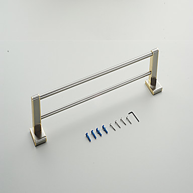 Barra para Toalha Alta qualidade Neoclassicismo Metal 1 Pça. - Banho do hotel Bar de 2 torres Montagem de Parede