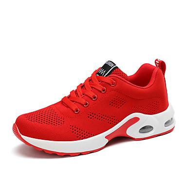 Dámské Boty Tyl Léto Creepers Atletické boty Chůze Platforma Oblá špička Šněrování Fialová / Červená / Růžová