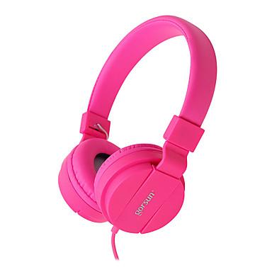 Gorsun gs-778 skládací stereo drátové sluchátka 3,5 mm protahovací hudební sluchátka pro sluchátka s mikrofonem