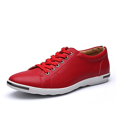 Homens sapatos Microfibra Primavera Outono Botas da Moda Conforto Tênis Combinação para Casamento Escritório e Carreira Festas & Noite