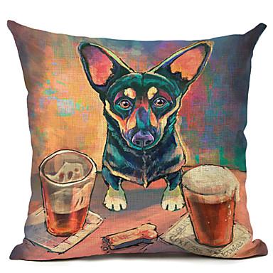 1 kpl Pellava Tyynyliina,Koira Moderni/nykyaikainen