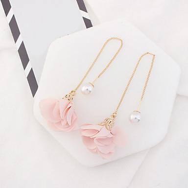 Damen Imitierte Perlen Tropfen-Ohrringe - Euramerican Modisch Blume Für Party Alltag Normal