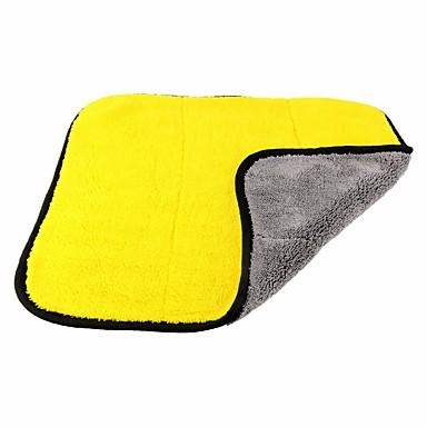 povoljno Oprema za čišćenje i uređivanje-ziqiao 45 * 38cm obložen obostrani koraljni runo auto ručnik za sušenje automobila pranje detaljno poliranje ručnik ručnik