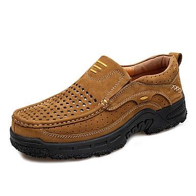 Homens sapatos Pele Pele Napa Couro Primavera Outono Conforto Mocassins e Slip-Ons Aventura para Atlético Casual Ao ar livre Castanho