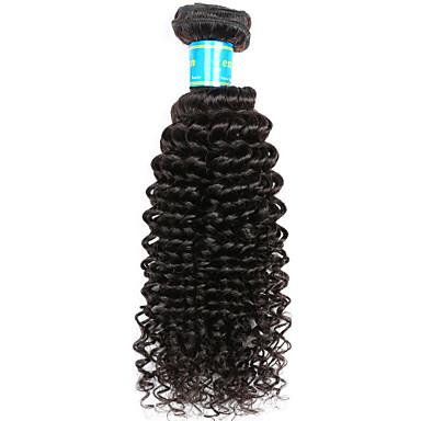 Burmesischen Haar Kinky Curly Menschliches Haar Webarten 1 Stück Menschenhaar spinnt