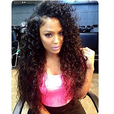 Echthaar Spitzenfront Perücke Kinky Curly 150% Dichte 100 % von Hand geknüpft Afro-amerikanische Perücke Natürlicher Haaransatz Kurz