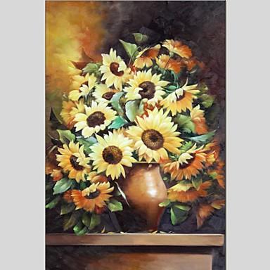 Pintados à mão Vida Imóvel Quadrada, Abstracto Tela de pintura Pintura a Óleo Decoração para casa 1 Painel