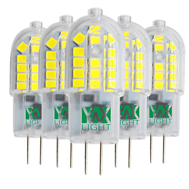 YWXLIGHT® 5pçs 3W 300-400 lm G4 Luminárias de LED  Duplo-Pin T 30 leds SMD 2835 Branco Quente Branco Frio Branco Natural 220-240V