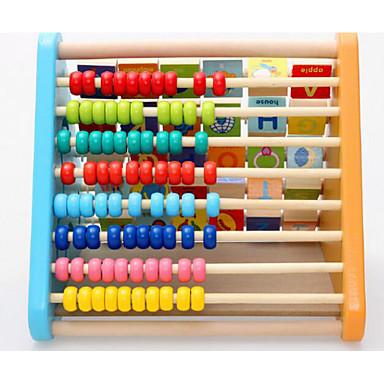 voordelige Rekenspeelgoed-Speelgoedtelraam Houten klok speelgoed Rekenspeelgoed Vierkant Onderwijs Kunst & Tekenspeelgoed Speeltjes Geschenk