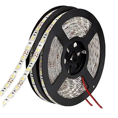 10m 600 المصابيح 5050 SMD أبيض دافئ / أحمر / أزرق 12 V / IP65