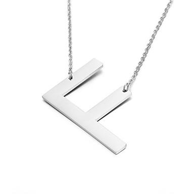 Dámské Náhrdelníky s přívěšky Alphabet Shape Nerez přátelství Módní počáteční šperky Šperky Pro Párty Narozeniny Denní Ležérní Vánoční